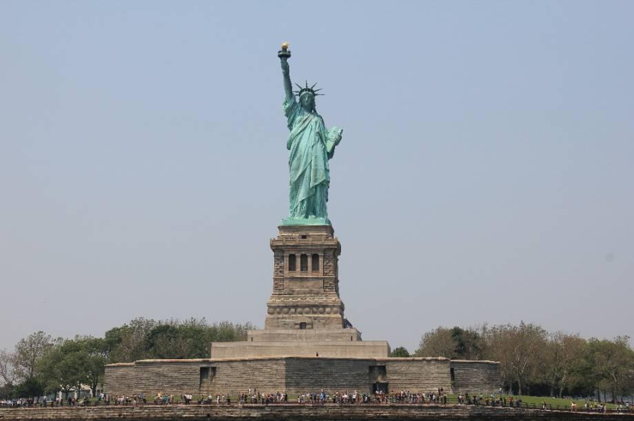 A Estátua da Liberdade é um passeio que agrada a todos da família
