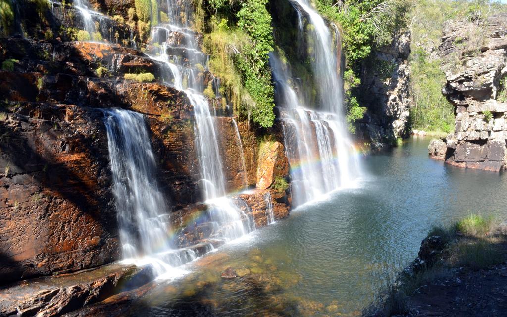 Cachoeira Almécegas em Alto Paraíso de Goiás, a cidade com melhor infraestrutura da região da Chapada dos Veadeiros