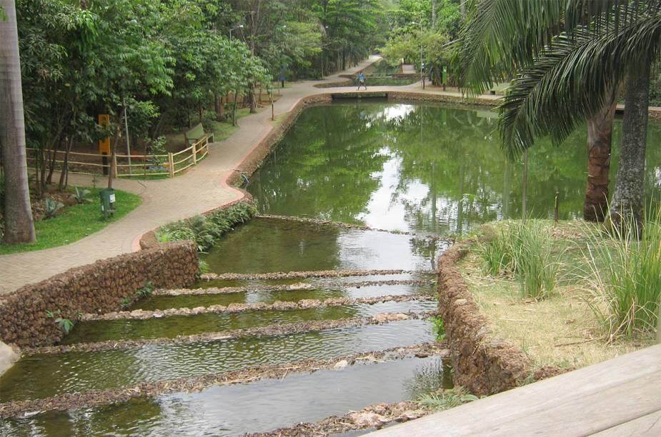 O Bosque dos Buritis, no Setor Oeste, é repleto de lagos artificiais e um alívio para o ar seco da cidade