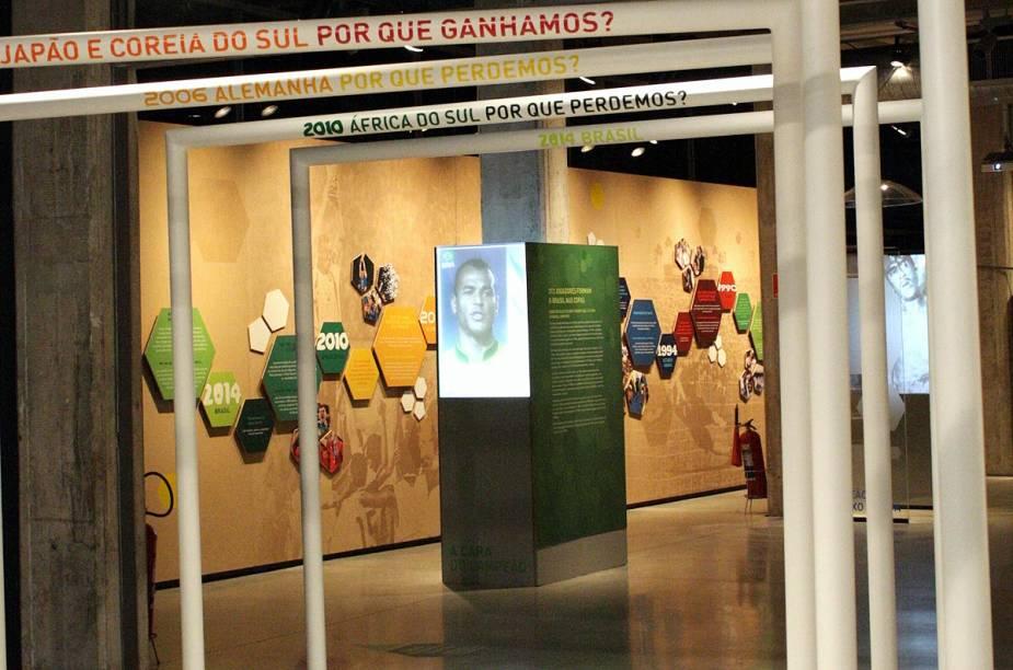 """O Pacaembu não recebe nenhum jogo da Copa do Mundo 2014, mas durante o evento, o <a href=""""http://viajeaqui.abril.com.br/materias/museu-do-futebol-tem-exposicao-interativa-sobre-o-brasil-nas-copas-do-mundo"""" rel=""""Museu do Futebol expõe fotos, vídeos e objetos que fizeram parte da história do Brasil nas 20 Copas em que participou"""" target=""""_blank"""">Museu do Futebol expõe fotos, vídeos e objetos que fizeram parte da história do Brasil nas 20 Copas em que participou</a>"""