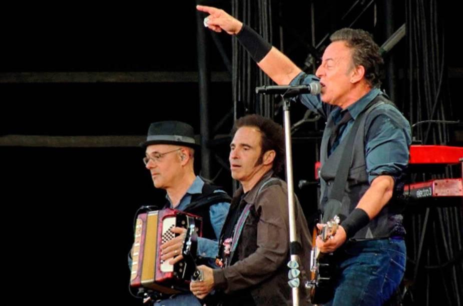 <strong>Pinkpop Festival, Landgraaf </strong>Grandes nomes da música já se apresentaram no Pinkpop desde seu início em 1970, entre eles: Bruce Springsteen (foto), Foo Fighters, Dire Straits, Pearl Jam e Red Hot Chili Peppers.