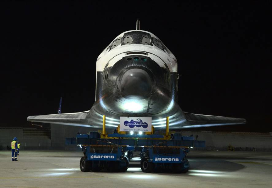 O California Science Museum de Los Angeles é casa permanente do ônibus espacial Endeavour