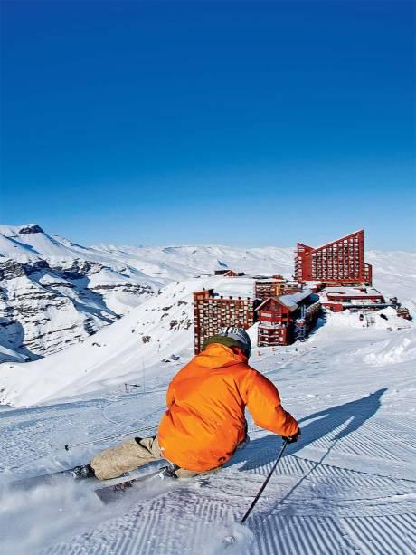 O doce caminho que leva à base e aos hotéis de Valle Nevado