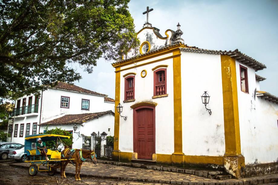 <strong>Capela do Senhor Bom Jesus da Pobreza</strong>, no Largo das Forras, centro deTiradentes (MG)