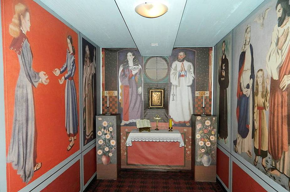 """Réplica da """"Capela da Nonna"""" no Museu de Arte Sacra de São Paulo"""