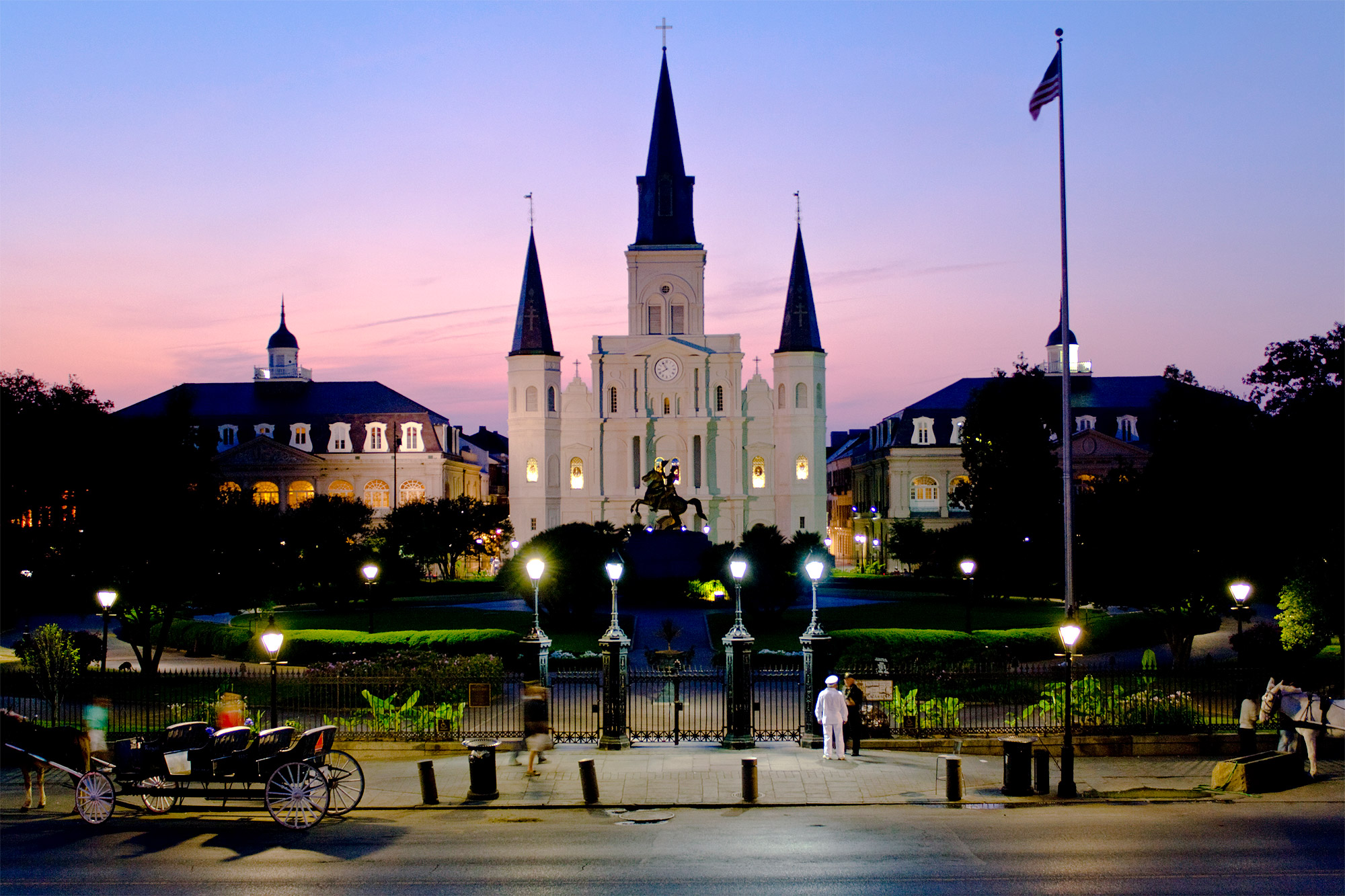 Igreja St. Louis Cathedral em Nova Orleans, Estados Unidos