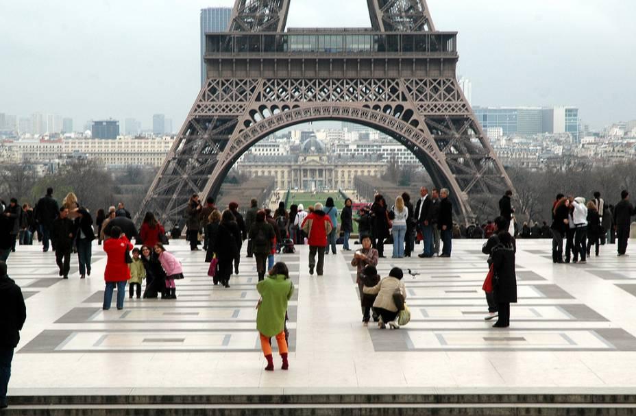 Esplanada do Trocadéro, em Paris