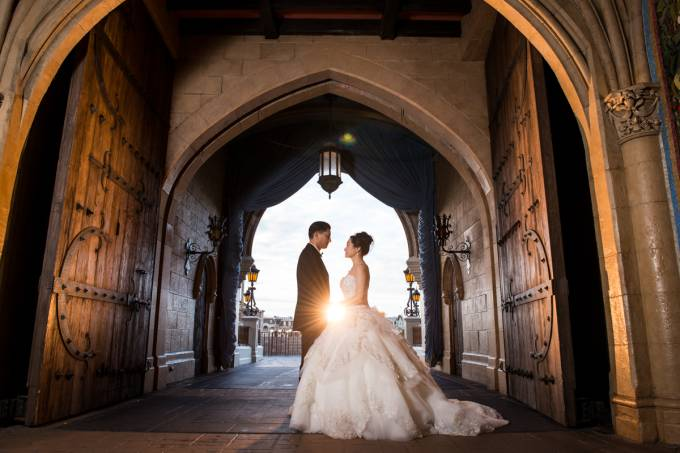 Casamento Disney Orlando à noite