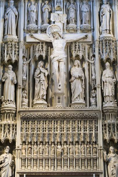 Detalhe da Catedral de St Albans - Hertfordshire - Inglaterra