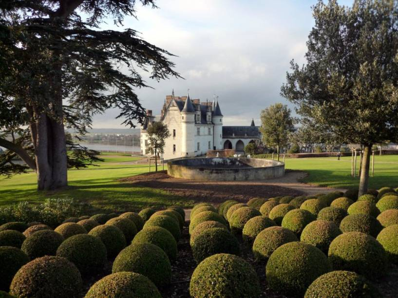 Jardins do castelo de Amboise, no Vale do Loire