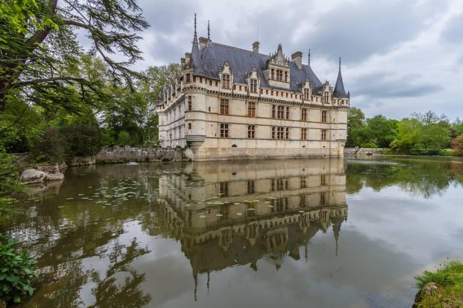 Château de Azay-le-Rideau, um dos mais belos do Vale do Loire