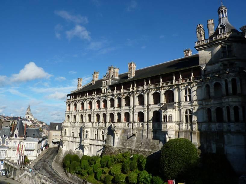 Vista externa do Château de Blois