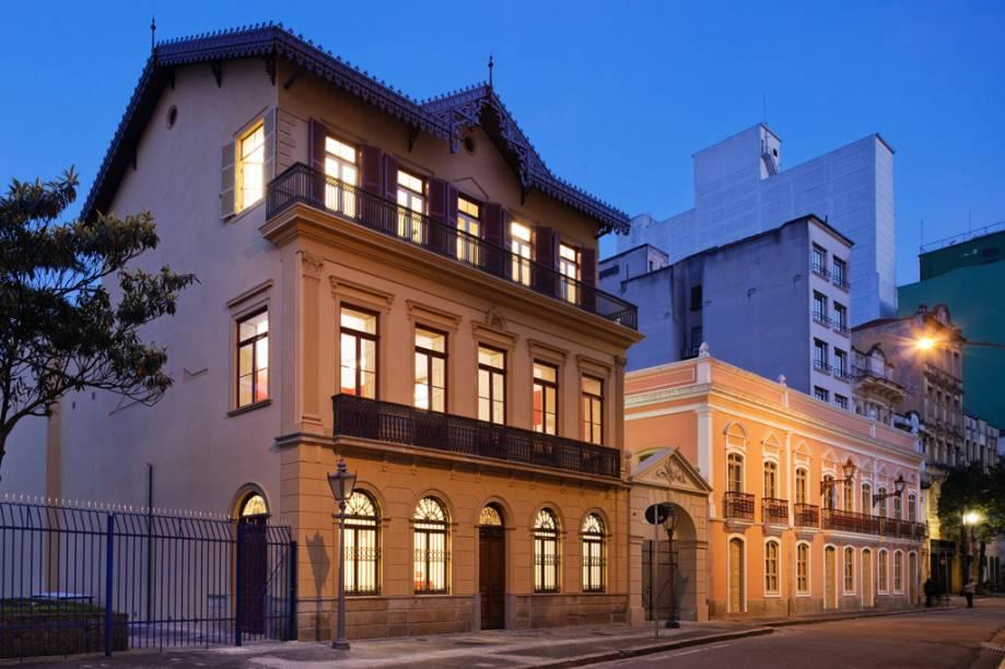 (à esq.) Casa da Imagem, Beco do Pinto e Solar da Marquesa, próximos ao Pateo do Collegio e à Praça da Sé, no centro de São Paulo