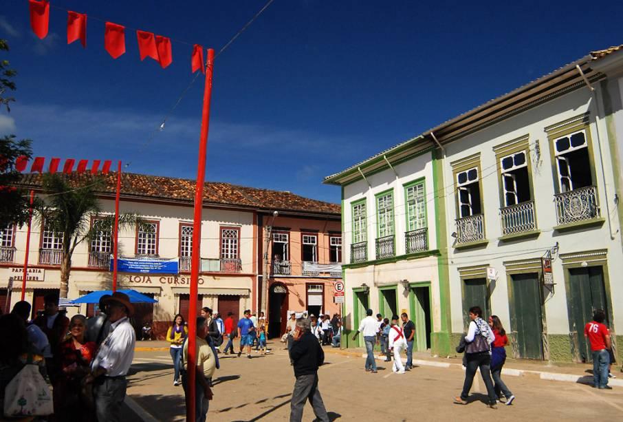Construções históricas em São Luiz do Paraitinga, no interior de São Paulo