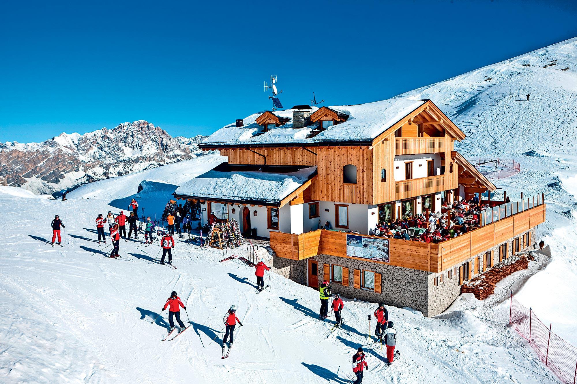 Destino de esqui - Cortina D'Ampezzo, na Itália