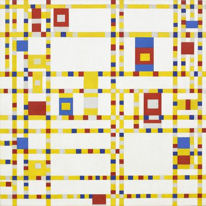 Obra de Piet Mondrian no MoMA