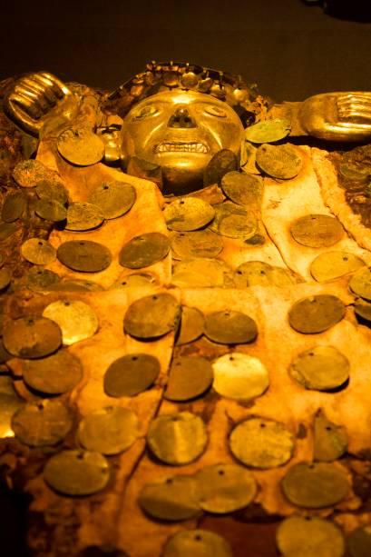 Acervo do Museo Cao no complexo arqueológico El Brujo