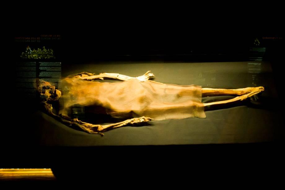 Múmia da Dama de Cao, no complexo arqueológico El Brujo
