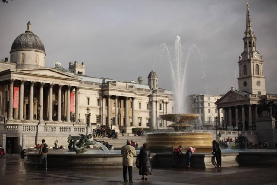 A Trafalgar Square reúne não somente a National Gallery e a Coluna de Nelson, mas também a igreja de Saint Martin in the Fields