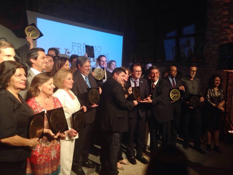 A festa de premiação ocorreu na noite desta quinta-feira (24), em São Paulo (SP); na foto, os vencedores da 15ª edição do prêmio O Melhor de Viagem e Turismo