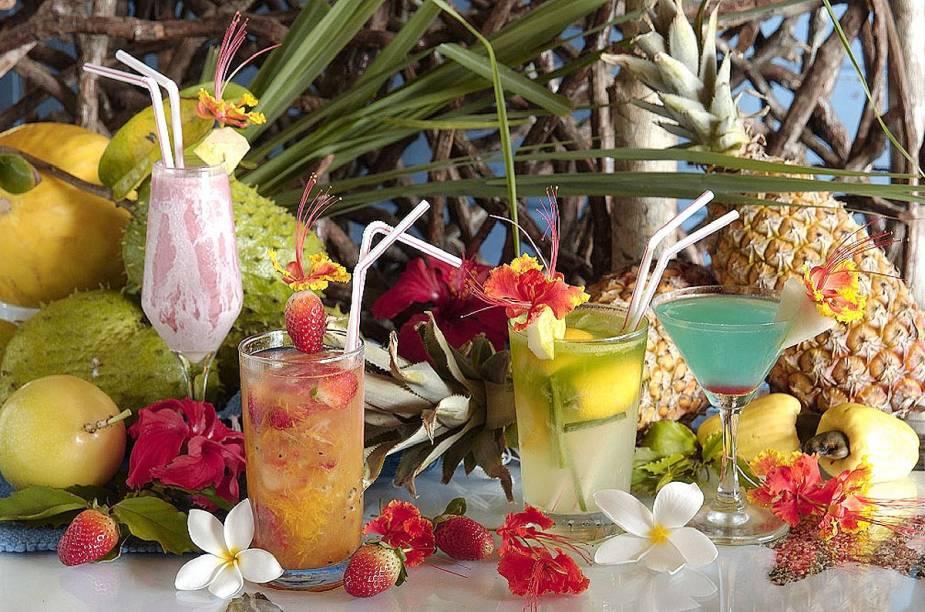 Drinks da pousada Zé Maria, em Fernando de Noronha (PE)