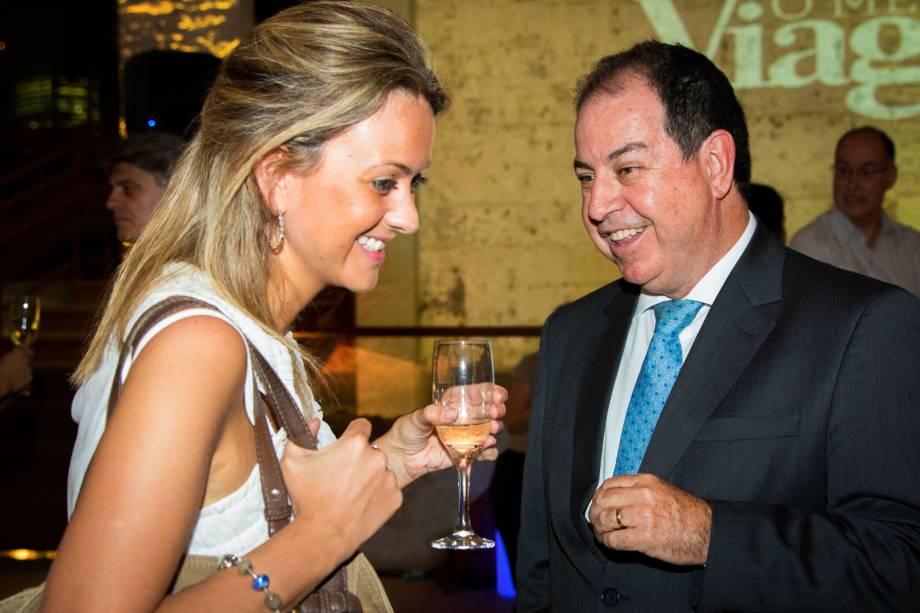 Dilson Verçosa, diretor da American Airlines no Brasil, e Silvia Dalla Vecchia, da Interamerican