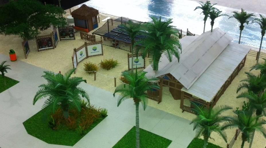 """Maquete do Centro de Visitantes e Base de Pesquisas do Coral Vivo exposta no Espaço Coral Vivo Mucugê, em <a href=""""http://viajeaqui.abril.com.br/cidades/br-ba-arraial-dajuda"""" rel=""""Arraial dAujda"""" target=""""_blank"""">Arraial DAujda</a>, <a href=""""http://viajeaqui.abril.com.br/estados/br-bahia"""" rel=""""Bahia"""" target=""""_blank"""">Bahia</a>"""