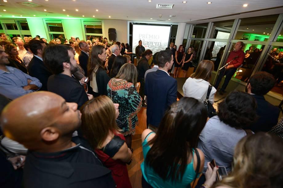 O salão do Terraço Abril, em São Paulo (SP), momentos antes da premiação