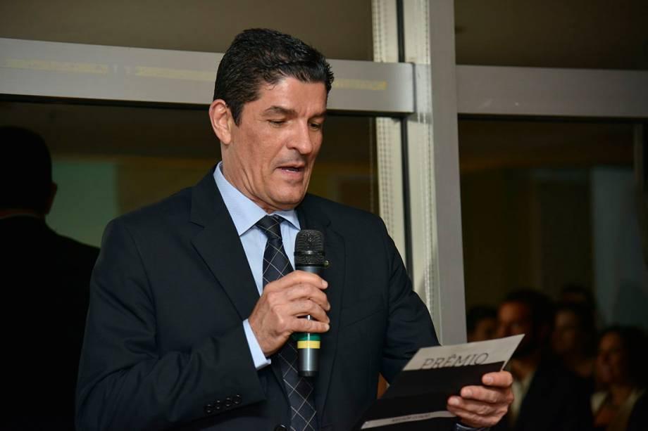 O Ministro do Turismo, Vinicius Lages, discursa durante a abertura do 14º prêmio O Melhor de Viagem e Turismo