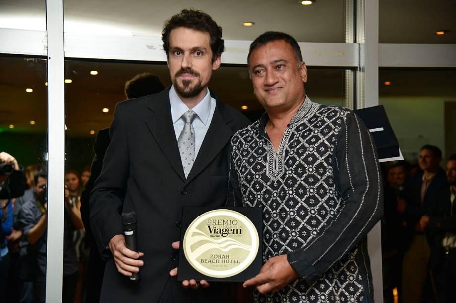O título de Hotel do Ano ficou com o Zorah Beach Hotel, em Trairi (CE). Recebeu o prêmio Sumeet Dhillon