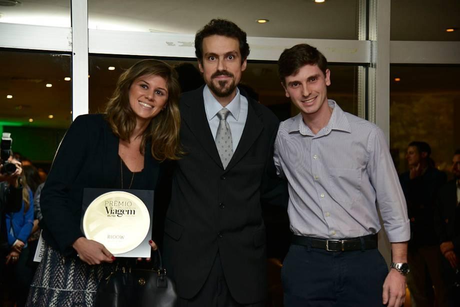 Bruna Marques e Bruno Rapp (dir), do Rioow, do Rio de Janeiro (RJ), eleito o Melhor Hostel