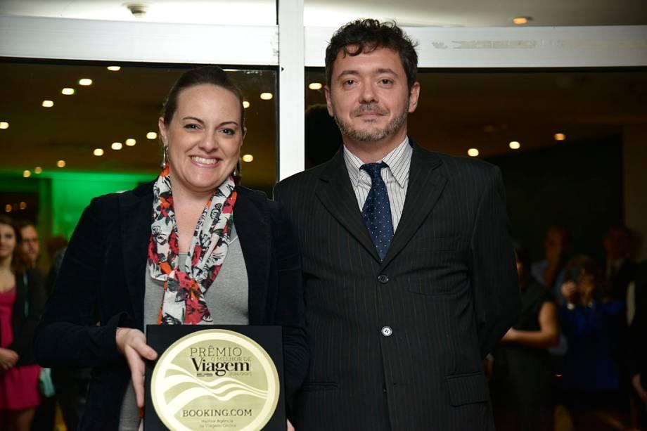 O site Booking.com recebeu o prêmio de Melhor Agência de Viagens Online. Recebeu o prêmio Keli Marques