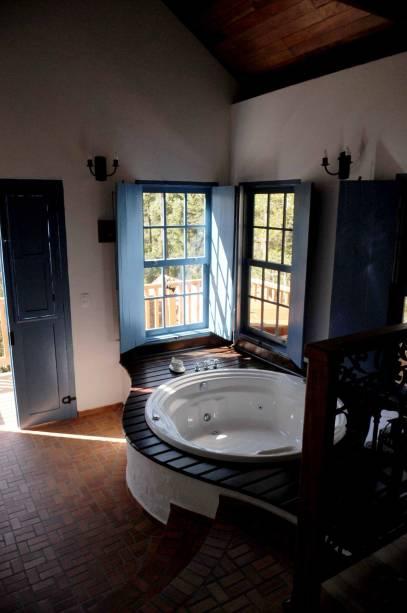 Hidromassagem na Provence Cottage & Bistrô, uma das melhores pousadas de Monte Verde