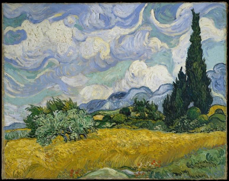 Campo de trigo com ciprestes, Van Gogh, Metropolitan Museum of Art Nova York