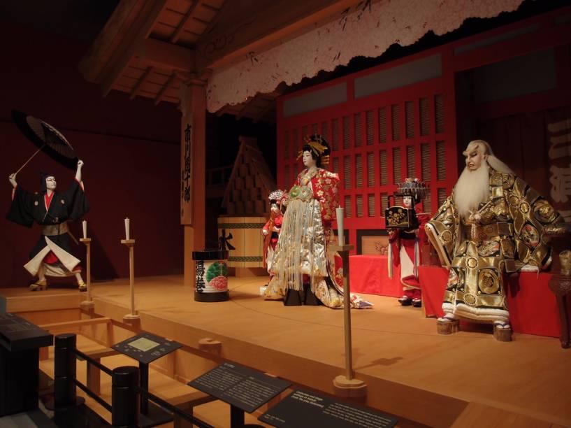 Exposição no Museu Edo-Tóquio remonta um teatro kabuki