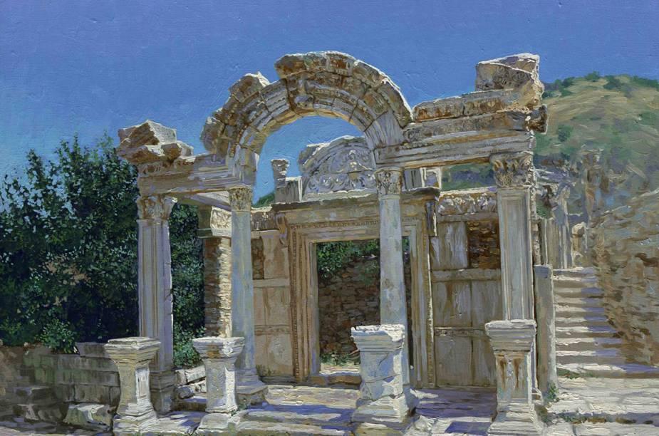 Pilastra nas ruínas de Éfeso