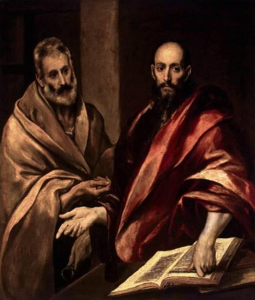 Pedro e Paulo (detalhe), de El Greco, no Hermitage