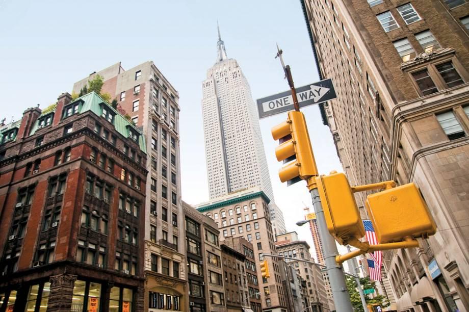O Empire State Building, considerado o arranha-céu mais famoso do mundo