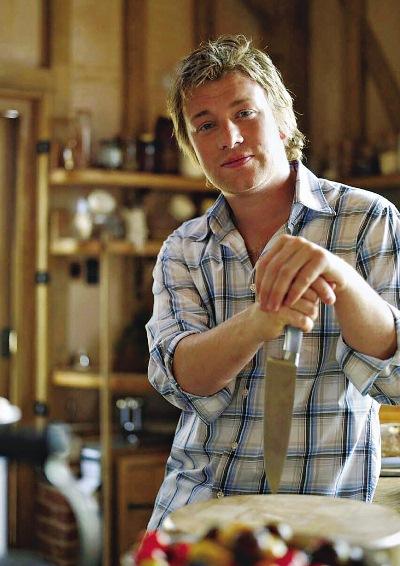 Chef Jamie Oliver, cujos pais mantêm um restaurante no Condado de Essex, Inglaterra