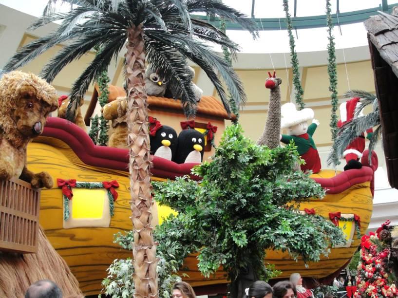 Floresta encantada do Papai Noel no <strong>Shopping Iguatemi</strong>, em Campinas (SP)
