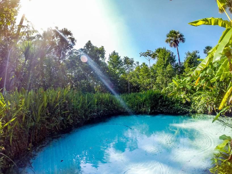Há vários <strong>fervedouros</strong> espalhados pelo território do Jalapão; todos são nascentes cristalinas, onde é impossível afundar o corpo devido à pressão d'água
