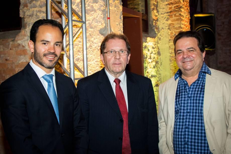 Filipe Mello, Secretário do Estado de Santa Catarina, Waldir Rubens Walendowski, presidente da Santur e Elson Campos