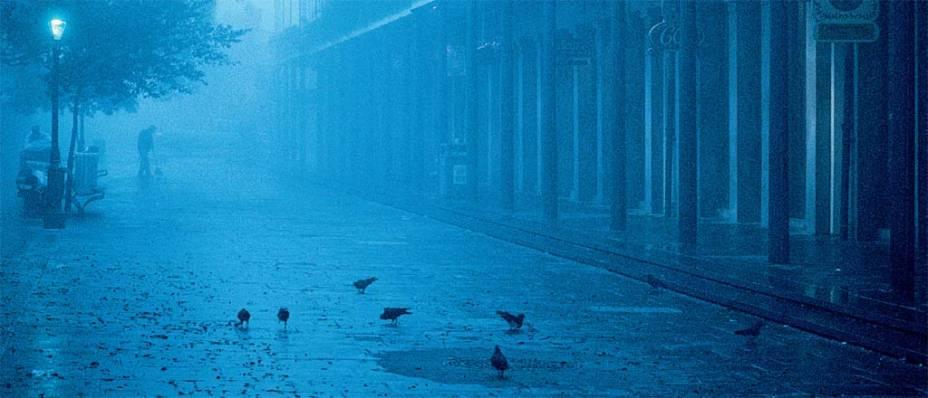 Fog matinal nas franjas do French Quarter