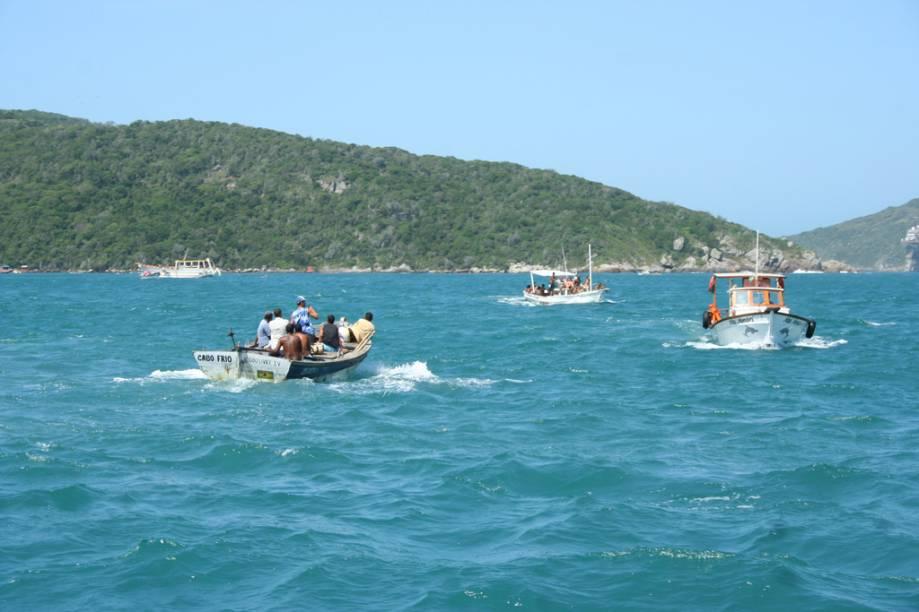 No verão, centenas de vans trazem visitantes das vizinhas Búzios e Cabo Frio em busca do passeio de barco e o mergulho, clássicos de Arraial