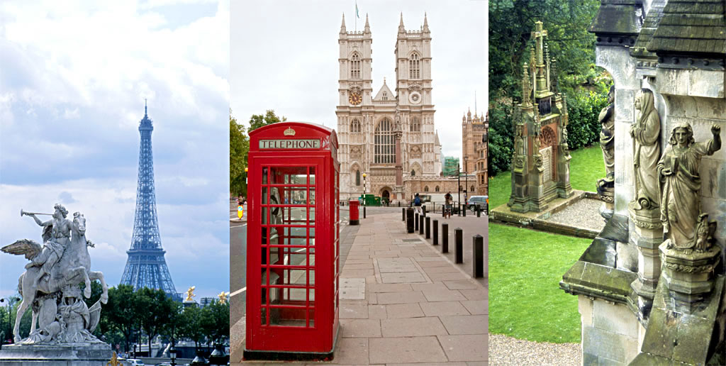 Paris, Londres e Escócia