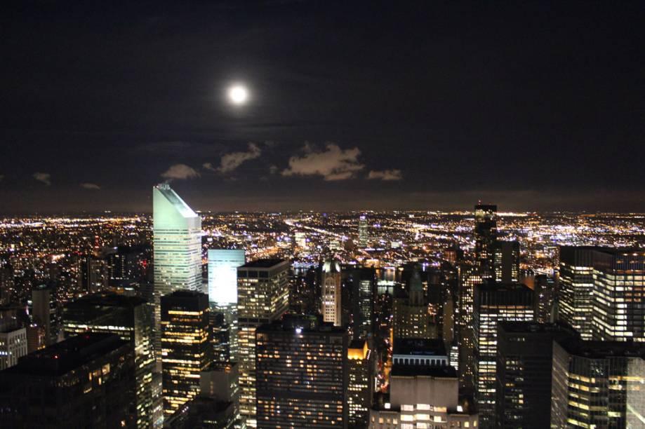 Vista de uma das janelas do Empire State, em Nova York, Estados Unidos