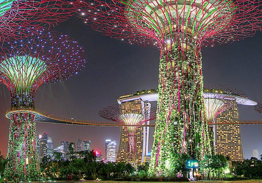 Gardens by the Bay, próximo ao Marina Bay Sands, em Cingapura