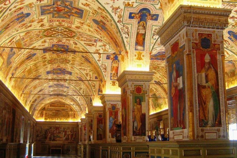 Sala Sistina da Biblioteca do Vaticano, Roma