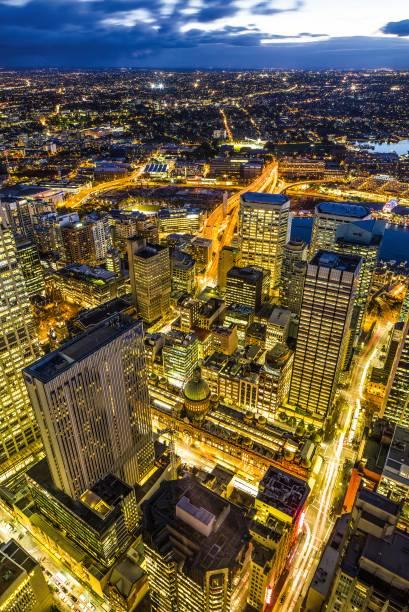 Vista noturna de Sydney