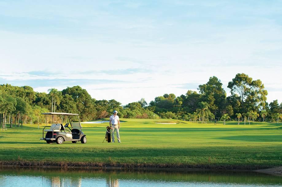 Campo de golfe do Costão do Santinho Resort, em Florianópolis, Santa Catarina